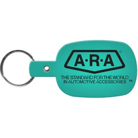 Round Rectangle Key Tag with Your Logo