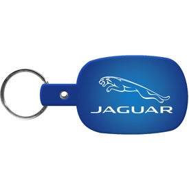 Round Rectangle Key Tag Imprinted with Your Logo
