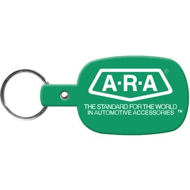 Round Rectangle Key Tag for Your Company