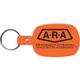 Round Rectangle Key Tag with Your Slogan
