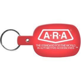 Customized Round Rectangle Key Tag