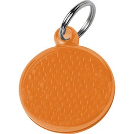 Round Reflector ID Tag with Your Slogan