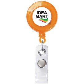 Round Retractable Badge Holder Imprinted with Your Logo