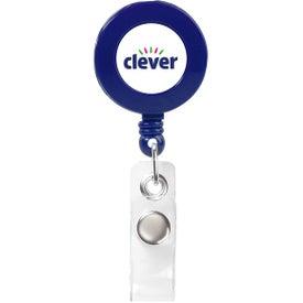 Logo Round Retractable Badge Holder