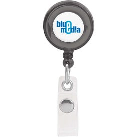 Round Retractable Badge Holder Branded with Your Logo