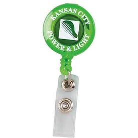 Promotional Round Retractable Badge Holder