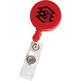 Monogrammed Round Retractable Badge Holder