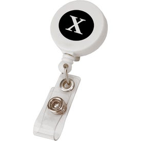 Round Retractable Badge Holder Printed with Your Logo
