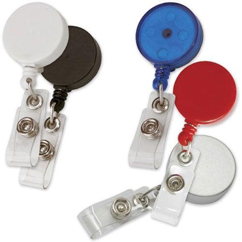 "Round Retractable Badge Holder (24"" Cord)"