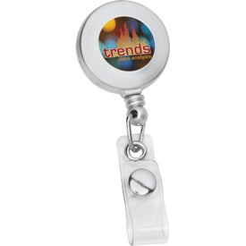 Customizable Round Retractable Badge Holder Branded with Your Logo