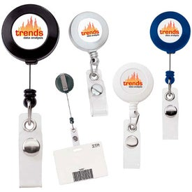 Round Retractable Plastic Badge Holder