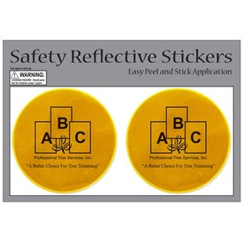 Imprinted Round Safety Reflective Stickers