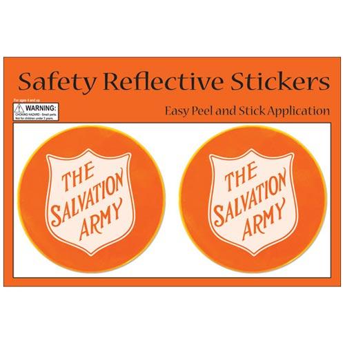 Orange stickers orange card round safety reflective stickers promotional