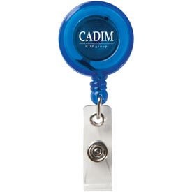Personalized Round Secure-A-Badge Holder