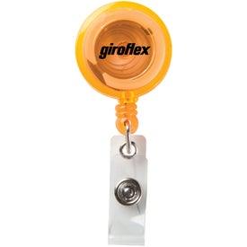 Custom Round Secure-A-Badge Holder