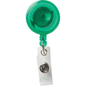 Logo Round Secure-A-Badge with Alligator Clip