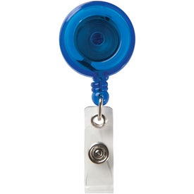 Round Secure-A-Badge with Alligator Clip Imprinted with Your Logo