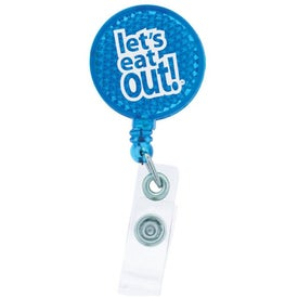 Round-Shaped Reflective Retractable Badge Holder for Your Church
