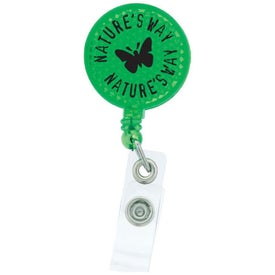 Round-Shaped Reflective Retractable Badge Holder for Marketing