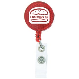 Promotional Round-Shaped Reflective Retractable Badge Holder
