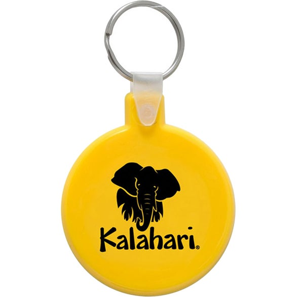 Yellow Round Soft Keytag