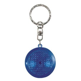 Company Round Soft Touch LED Key Chain