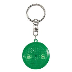 Branded Round Soft Touch LED Key Chain