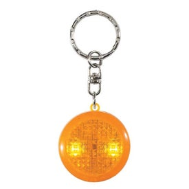 Advertising Round Soft Touch LED Key Chain