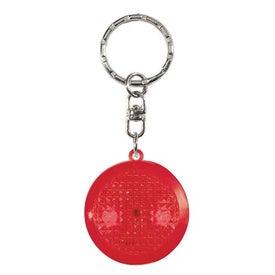 Round Soft Touch LED Key Chain for Your Organization