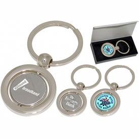 Custom Round Spinner Keychain