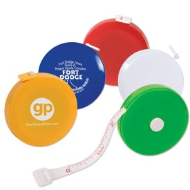 Personalized Round Tape Measure Branded with Your Logo