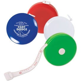 Round Tape Measure Branded with Your Logo