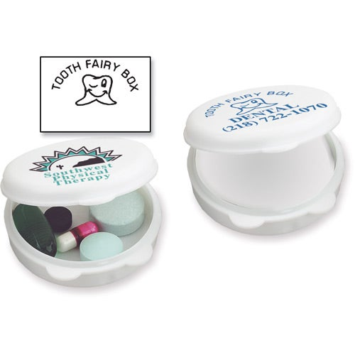 White Round-The-Clock Pill Box