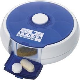 Monogrammed Round Twist Pill Box