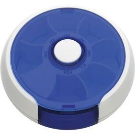 Branded Round Twist Pill Box