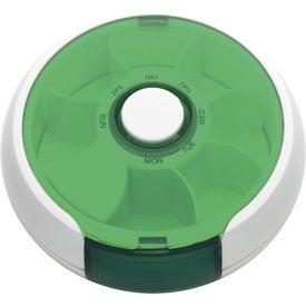 Imprinted Round Twist Pill Box