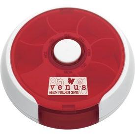 Logo Round Twist Pill Box