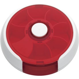 Round Twist Pill Box Printed with Your Logo