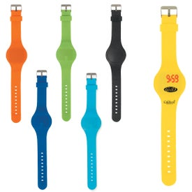 Round Unisex Touch-Activated Sports Watch Branded with Your Logo