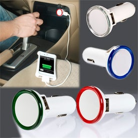 Round USB Car Charger for Your Organization