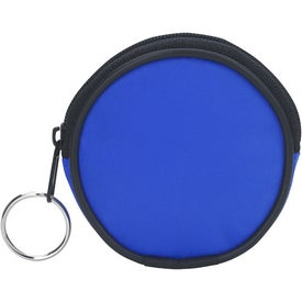 Branded Round Zippered Coin Pouch