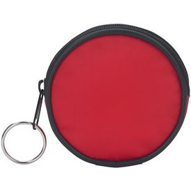 Round Zippered Coin Pouch for Advertising