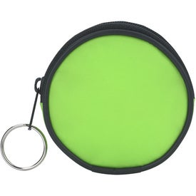 Personalized Round Zippered Coin Pouch