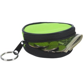 Promotional Round Zippered Coin Pouch