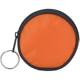 Round Zippered Coin Pouch for your School