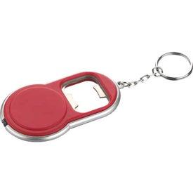 Round Led Key-Light / Bottle Opener with Your Slogan