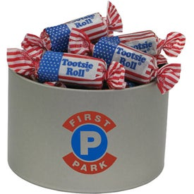 Round Tin of Candy - Flag Toots