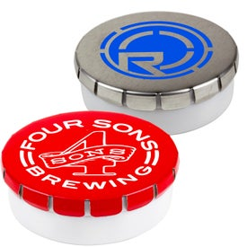 Snap Top Round Tin of Mints for Your Organization