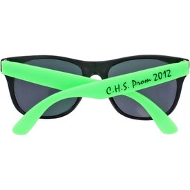 Rubberized Sunglasses Imprinted with Your Logo