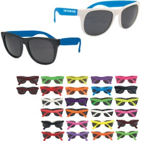 Logo Rubberized Sunglasses